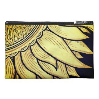 Cute sunflower cosmetic bag