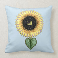 Cute Sunflower Throw Pillow