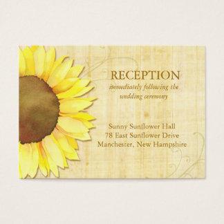 Cute Sunflower Wedding Reception Insert