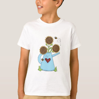 Cute Sunflowers in Watering Can T-Shirt