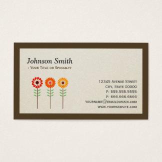 Cute Sunflowers - Modern Stylish Business Card