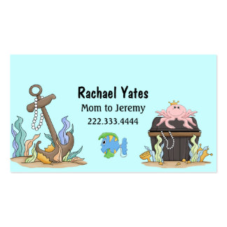 Cute Sunken Treasure Mommy Card Double-Sided Standard Business Cards (Pack Of 100)