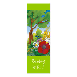 Cute Sunny Day bookmark for young books lovers! Mini Business Card