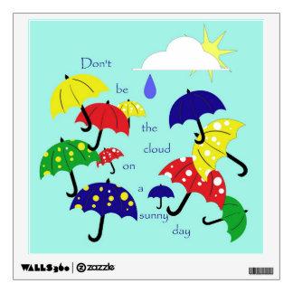 Cute Sunny Day Umbrellas Wall Decal
