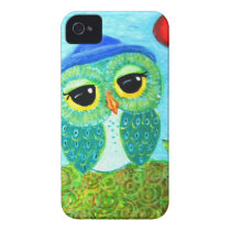Cute Sunny Owl iPhone 4 Case