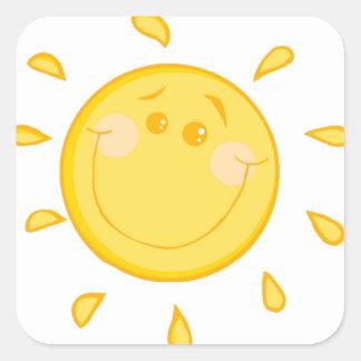 Cute Sunny Sun Square Stickers