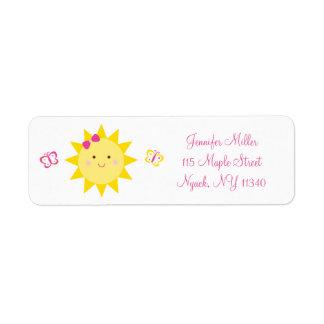 Cute Sunshine Birthday Address Label