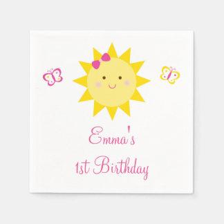Cute Sunshine Birthday Paper Napkin