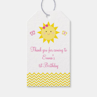 Cute Sunshine Birthday Party Favor Gift Tags