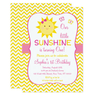 Cute Sunshine First Birthday Card