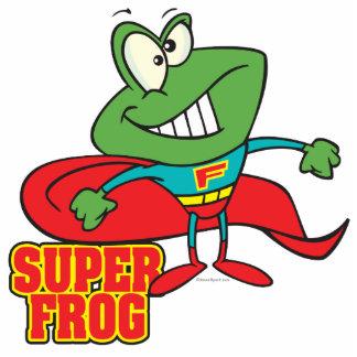 cute super frog superhero cartoon acrylic cut out