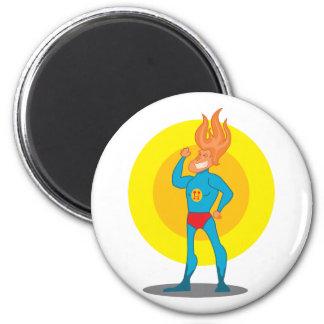 Cute super hero 2 inch round magnet