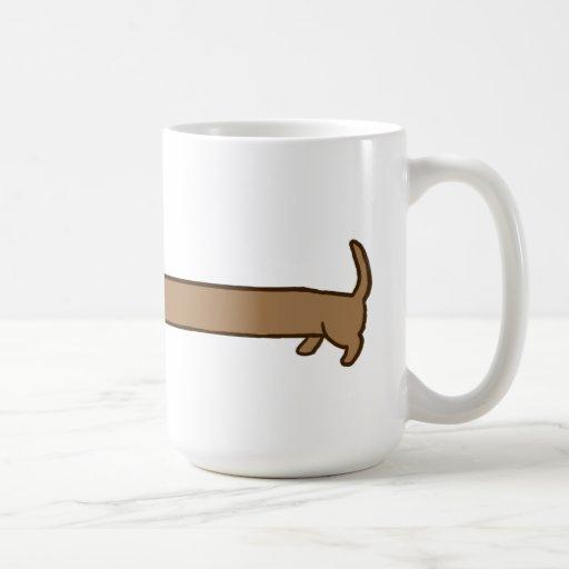 Cute Super Long Dachshund Mug