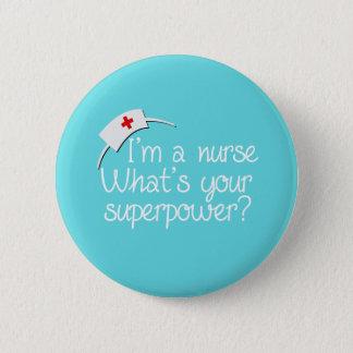 Cute Super Nurse Button
