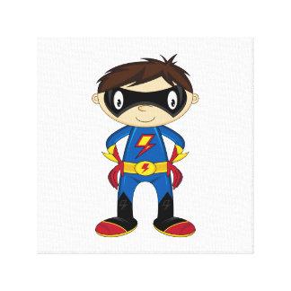 Cute Superhero Boy Canvas Print