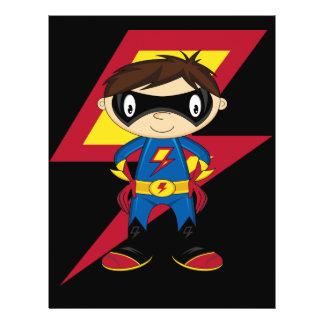 superhero flyer