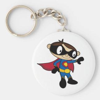 Cute Superhero Boy Keychain