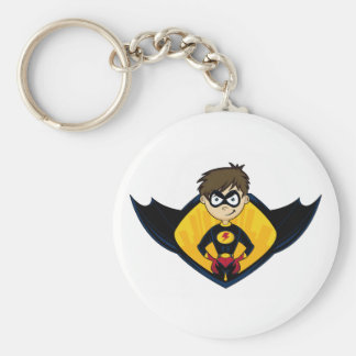 Cute Superhero Boy Keychain