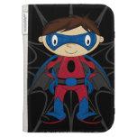 Cute Superhero Boy Kindle Cases