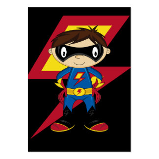 Cute Superhero Boy Large Business Card