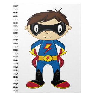 Cute Superhero Boy Note Books