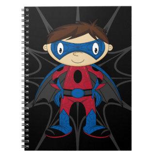 Cute Superhero Boy Spiral Note Book