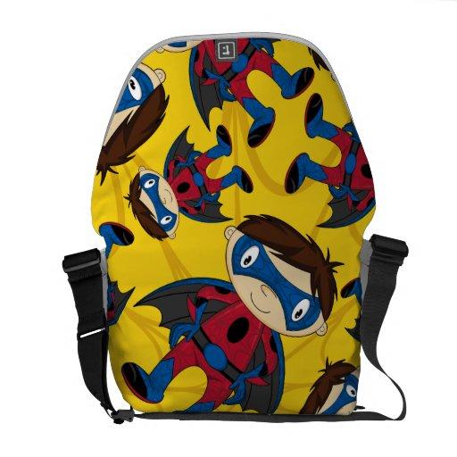 Cute Superhero Boy Pattern Commuter Bag