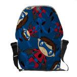 Cute Superhero Boy Pattern Commuter Bags