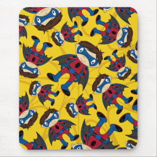 Cute Superhero Boy Pattern Mouse Pad