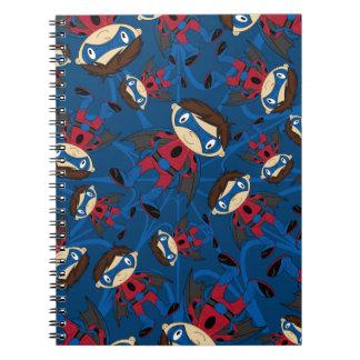 Cute Superhero Boy Pattern Spiral Notebook