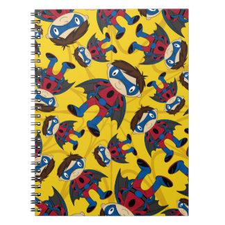 Cute Superhero Boy Pattern Spiral Notebooks