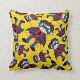 Cute Superhero Boy Pattern Pillow
