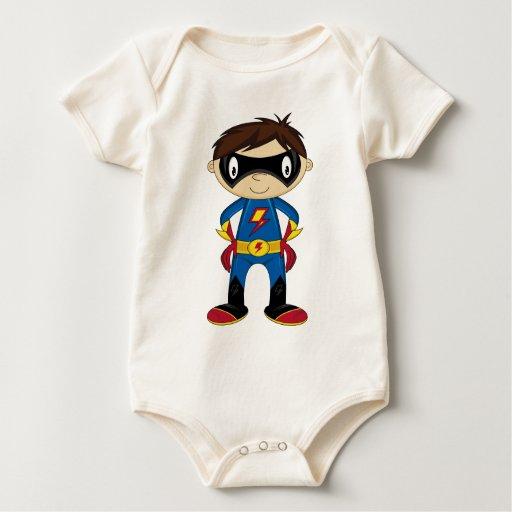 Cute Superhero Boy Romper