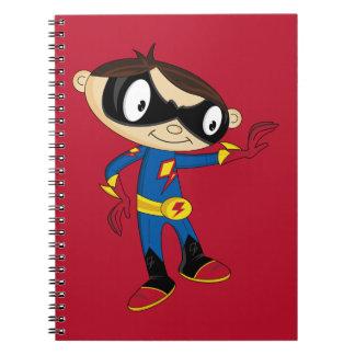 Cute Superhero Boy Spiral Notebook