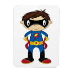 Cute Superhero Boy Vinyl Magnets