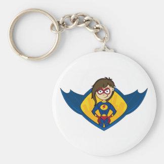 Cute Superhero Girl Keychain