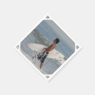 Cute Surfer Standard Cocktail Napkin