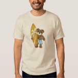 Cute surfer teddy bear shirt