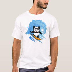 Men's Basic T-Shirt with Cute Surfing Panda design