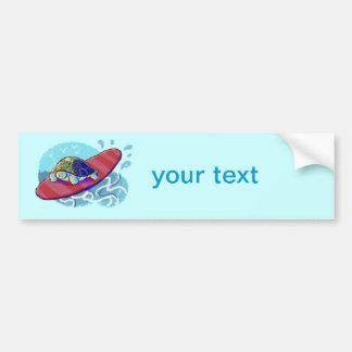 Cute Surfing Turtle Bumper Sticker