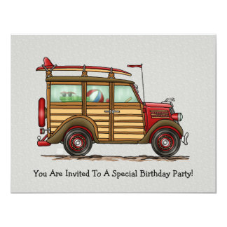Cute Surfing Woody Card