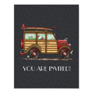 Cute Surfing Woody Card