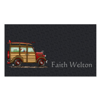 Cute Surfing Woody Double-Sided Standard Business Cards (Pack Of 100)