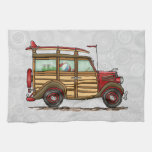 Cute Surfing Woody Kitchen Towel