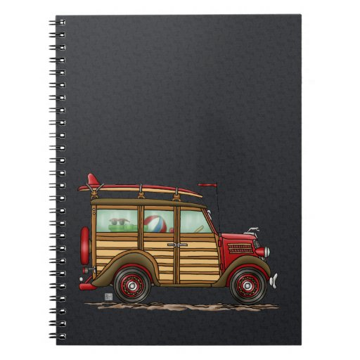 Cute Surfing Woody Spiral Note Book
