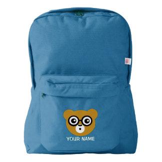 Cute Surprised Bear Face American Apparel™ Backpack
