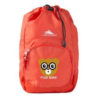 Cute Surprised Bear Face Backpack