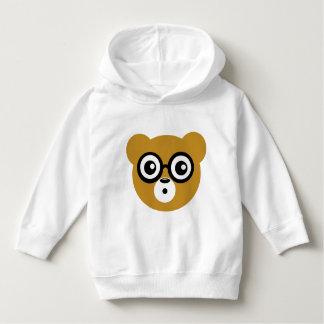 Cute Surprised Bear Face Hoodie