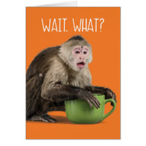 Cute Surprised Monkey Complimentary Birthday Age Card