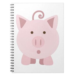 Cute Surprised Pig Notebook